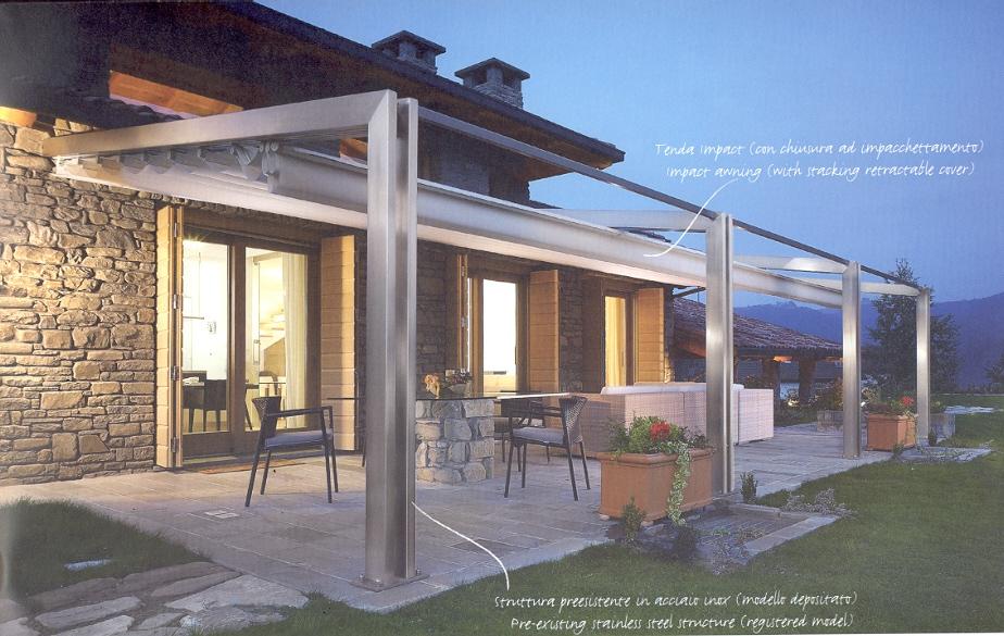 Fratelli erbo tende da sole roma pergotende corradi for Design moderno di portico in vetro